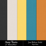Just Believe Solid Paper Pack-$2.49 (Amy Teets)