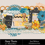 Just Believe Embellishment Pack-$3.49 (Amy Teets)