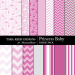 Princess Baby Paper Pack-$2.99 (Tara Reed Designs)