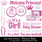 Princess Baby Embellishment Pack-$2.99 (Tara Reed Designs)