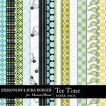 Tee Time Pattern Paper Pack-$1.75 (Laura Burger)