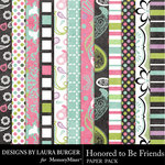 Honored To Be Friends Bold Paper Pack-$3.49 (Laura Burger)