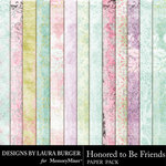 Honored To Be Friends Pattern Paper Pack-$3.49 (Laura Burger)
