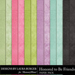 Honored To Be Friends Solid Paper Pack-$3.49 (Laura Burger)