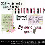 Honored To Be Friends WordArt-$2.49 (Laura Burger)