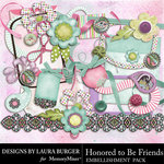 Honored To Be Friends Add On Embellishment Pack-$3.49 (Laura Burger)