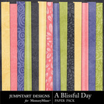 A Blissful Day Basics Paper Pack-$1.75 (Jumpstart Designs)