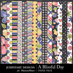 A Blissful Day Patterned Paper Pack-$1.75 (Jumpstart Designs)