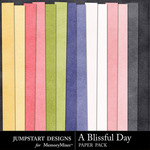 A Blissful Day Plain Paper Pack-$3.49 (Jumpstart Designs)