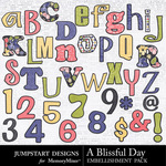 A Blissful Day Alpha Pack-$1.75 (Jumpstart Designs)