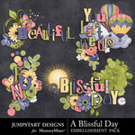 A Blissful Day Titles-$2.49 (Jumpstart Designs)