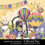 A Blissful Day Extras Embellishment Pack-$1.50 (Jumpstart Designs)