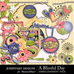 A Blissful Day Add On Embellishment Pack-$3.99 (Jumpstart Designs)