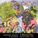 A Blissful Day Add On Embellishment Pack 2-$3.00 (Jumpstart Designs)