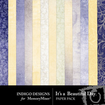 Its A Beautiful Day Paper Pack-$2.99 (Indigo Designs)