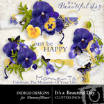 Its A Beautiful Day Clusters-$1.99 (Indigo Designs)