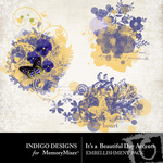 Its A Beautiful Day Stamps-$1.99 (Indigo Designs)