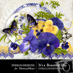 Its A Beautiful Day Embellishment Pack-$2.99 (Indigo Designs)