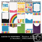 Rainbow Love AR Journal Cards-$2.49 (Albums to Remember)
