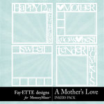 A Mothers Love FE Big Words Inkers-$3.99 (Fayette Designs)