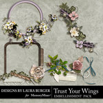 Trust Your Wings Clusters-$2.49 (Laura Burger)