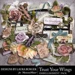 Trust Your Wings Embellishment Pack-$1.40 (Laura Burger)