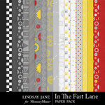 In The Fast Lane Paper Pack-$3.49 (Lindsay Jane)