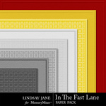 In The Fast Lane Embossed Paper Pack-$1.99 (Lindsay Jane)