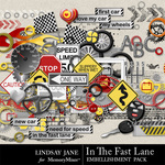 In The Fast Lane Embellishment Pack-$3.49 (Lindsay Jane)