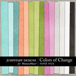 Colors of Change Plain Paper Pack-$3.49 (Jumpstart Designs)