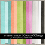 Colors of Change Plain Paper Pack-$3.49 (Jumpstart Designs)