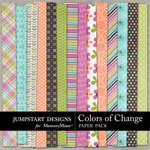 Colors of Change Patterned Paper Pack-$3.49 (Jumpstart Designs)