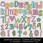 Colors of Change Alpha Pack-$2.99 (Jumpstart Designs)