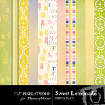 Sweet Lemonade Paper Pack-$3.49 (Fly Pixel Studio)