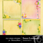 Sweet Lemonade Stacked Paper Pack-$3.49 (Fly Pixel Studio)