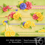 Sweet Lemonade Borders-$1.40 (Fly Pixel Studio)