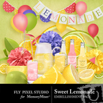 Sweet Lemonade Embellishment Pack-$2.99 (Fly Pixel Studio)