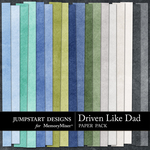 Driven Like Dad Paper Pack-$1.75 (Jumpstart Designs)