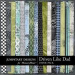 Driven Like Dad Patterned Paper Pack-$3.49 (Jumpstart Designs)
