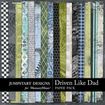 Driven Like Dad Patterned Paper Pack-$1.75 (Jumpstart Designs)