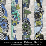 Driven Like Dad Borders Pack-$2.49 (Jumpstart Designs)
