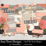 And The Story Begins Embellishment Pack-$3.49 (Amy Teets)