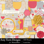 100 Hearts Combo Pack-$4.99 (Amy Teets)