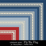 Fly The Flag Embossed Paper Pack-$1.90 (Lindsay Jane)