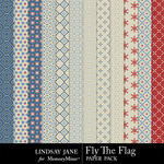 Fly The Flag Patterned Paper Pack-$1.99 (Lindsay Jane)