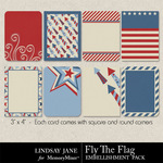 Fly The Flag Journal Cards-$1.99 (Lindsay Jane)