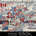 Fly The Flag Embellishment Pack-$3.49 (Lindsay Jane)