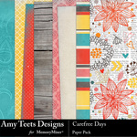 Carefree Days Paper Pack-$3.49 (Amy Teets)