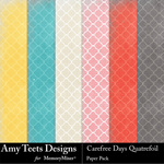 Carefree Days Quatrefoil Paper Pack-$3.49 (Amy Teets)