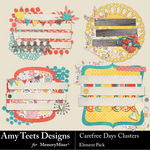 Carefree Days Clusters-$2.49 (Amy Teets)